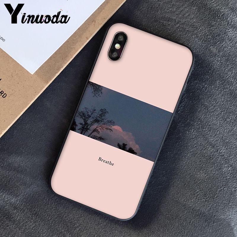 Yinuoda, розовый, эстетический, песни, лирика, эстетический, мягкий силиконовый чехол для телефона, чехол для iPhone 8, 7, 6, 6 S, 6 Plus, X, XS, MAX, 5, 5S, SE, XR, 10 - Цвет: A4