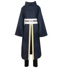 Brdwn Naruto Mens Uchiha Obito Tobi Cosplay Costumes cloak suit(Kimono+Pants+Belt+Headband)