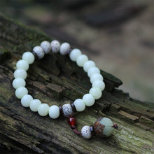 Mulheres pulseiras 2016 new arrival branco bodhi elasticidade frisado acessórios de moda jóias pingente charme pulseira BS16