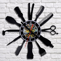 Display Wall Clock Home Decoration Art Room Bedroom Clocks Fashion Barber Shop Black Pointer