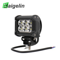 18W Spotlight IP65 4 Inch LED Work Light Bar For Indicators Motorcycle Offroad Boat Car Tractor