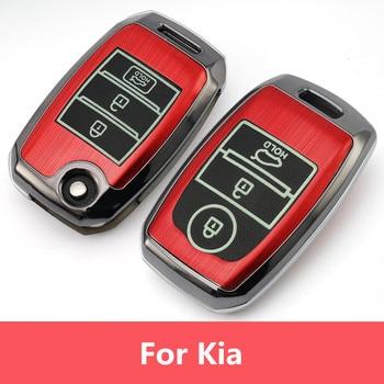 Carcasa luminosa plegable para llave de coche KIA Sid ALMA DE RIO Sportage Ceed Sorento CeratoK2 K3 K4 K5 Carcasa de llave para coche     -