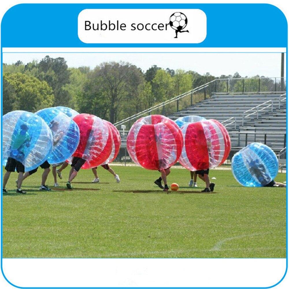 Oyuncaklar ve Hobi Ürünleri'ten Şişme Zıplama Yerleri'de 1.5m Tampon Topu 0.8mm PVC Şişme Kabarcık Futbol Zorb futbol topu Çocuklar için Yetişkin Aile Açık Oyun Topu Spor oyuncaklar'da  Grup 3