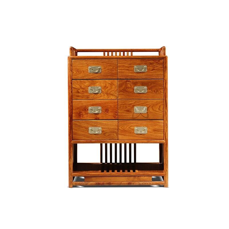 Bois massif nouveau classique rétro commode meubles de salon palissandre affichage armoire de rangement acajou lit étagère Tables