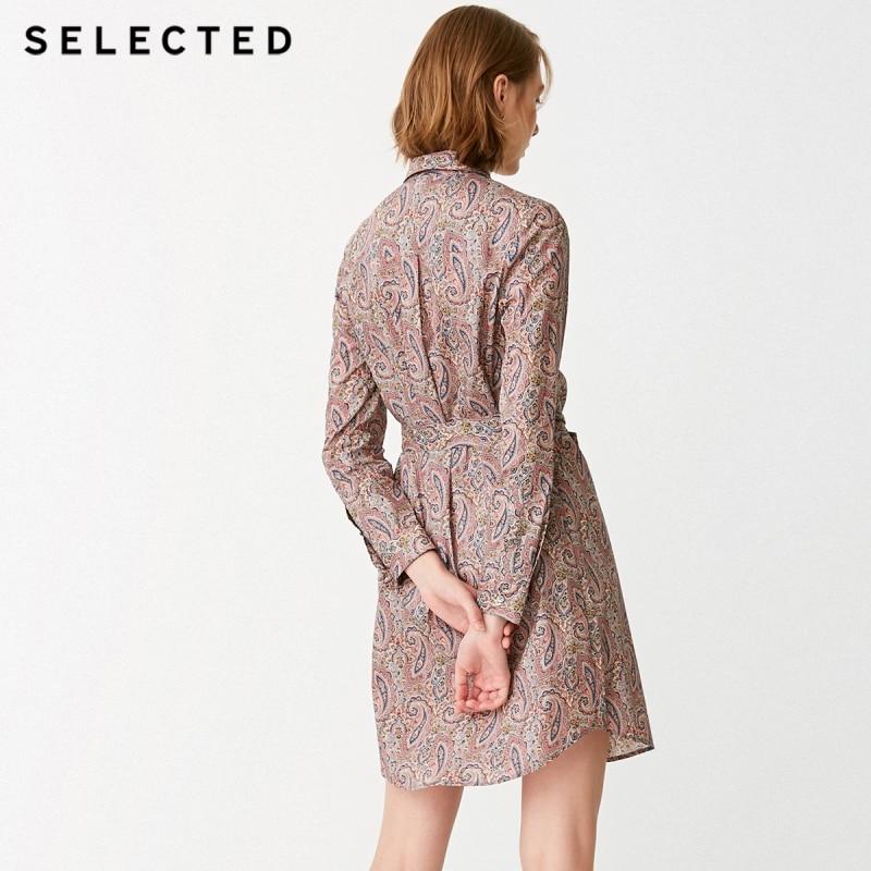 เลือกผ้าฝ้าย 100% พิมพ์ Lace up Dress S  41832J519-ใน ชุดเดรส จาก เสื้อผ้าสตรี บน   3