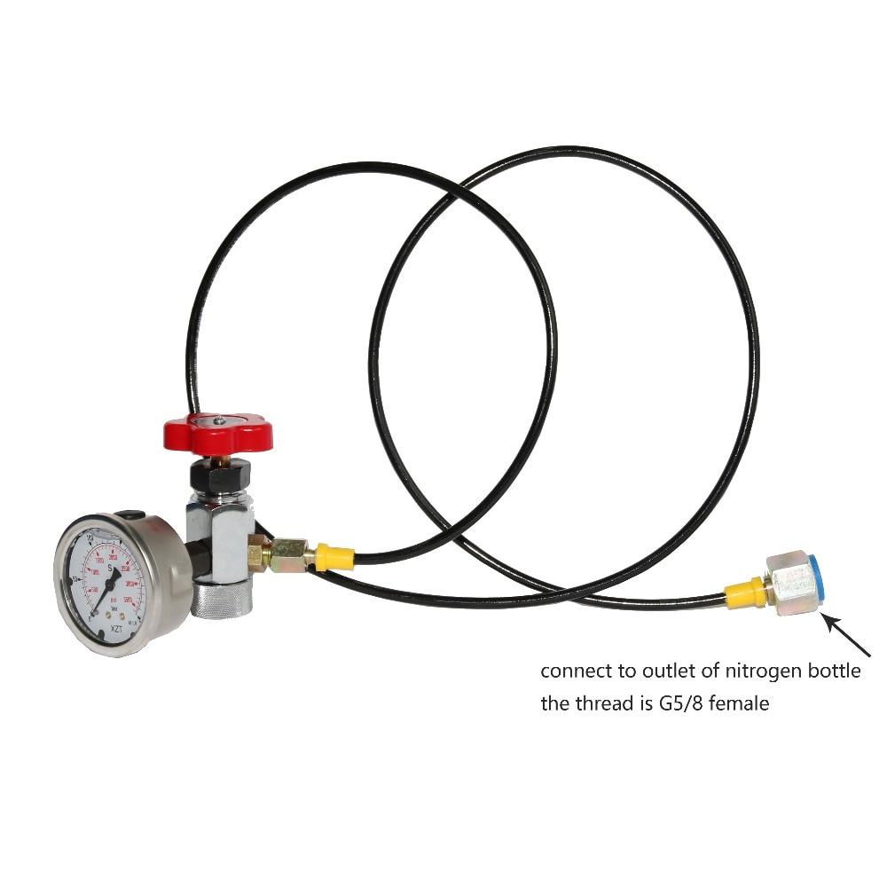 XZGK-02 Hydraulic Accumulator cylinder Nitrogen gas charging kit for 8V1 gas valve