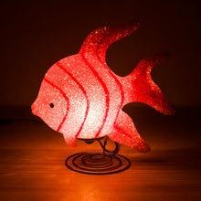 12V בטיחות הבטיחות מנורת שולחן הלילה אורות הלילה אורות חג המולד צד deocoration דגים נושא צלמית מנורת LED חג האורות מתנה