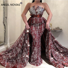 Angel Novias Long Mermaid Evening Dress 2018