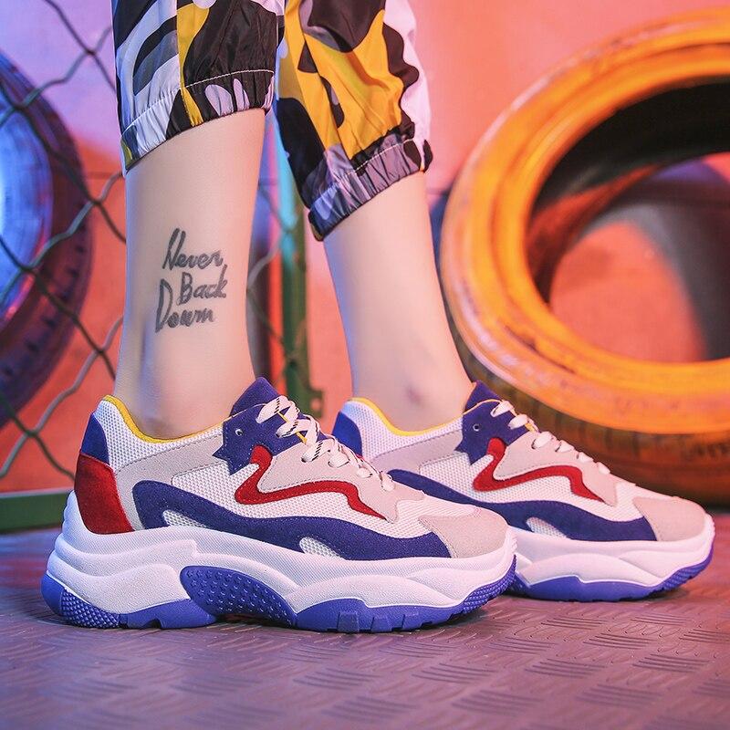 pink blue B Sneakers Mode Bomkinta Blue Chaussures Appartements Mélangées B A Respirant Lacent Dames B green D'amortissement Casual Femme Couleurs Femmes Marque A gray pFBq4