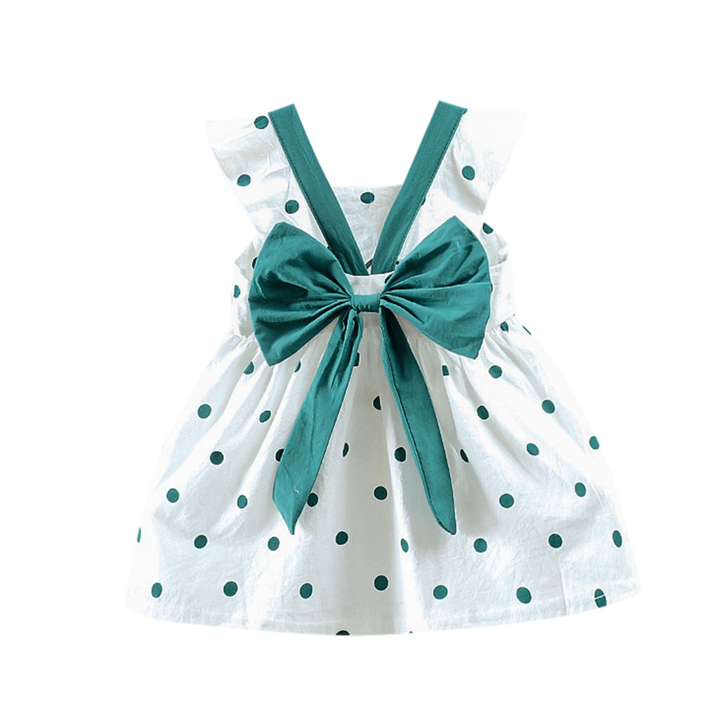 Baby Girl Dress Summer Dresses Girl Princess Infant Toddler Dot Bow-knot Clothes Party Wedding Birthday Dress Vestidos Bebes 4