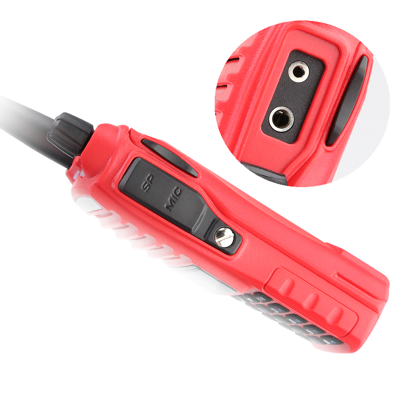 New Arrival 5W Dual Band Red Color BAOFENG UV-82 Professional Ham Amateur Radio Transceiver Dual PTT Headset
