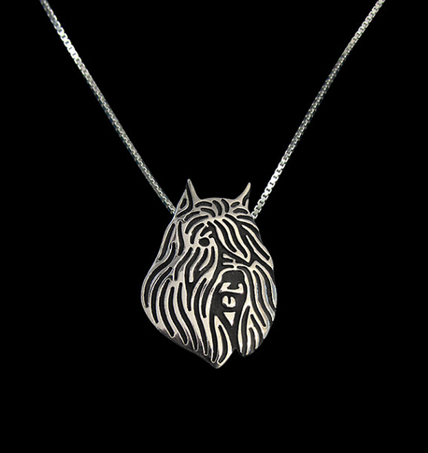 Hot Sale 1pcs Bouvier des Flandres Necklace 3D Cut Out Puppy Dog Lover Pendant Memorial Necklaces Pendants Christmas