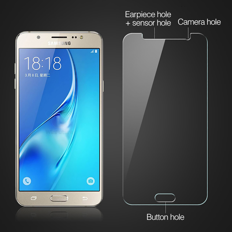 Clear Tempered Glass Front Screen Protector Phone Case For Samsung Galaxy 3