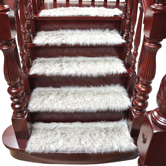 Hot 1 Piece Staircase Carpet Stair Treads Protector Mats Dustproof Mat Rugs