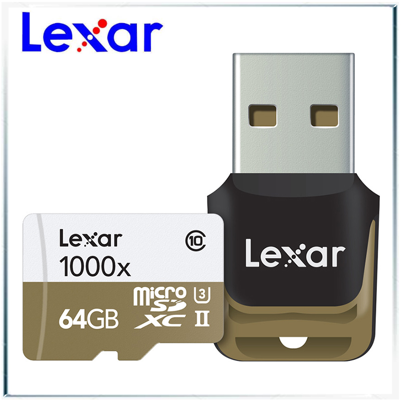 Lexar micro sd card 64gb SDXC 150MB S memory card UHS II U3 class10 TF flash