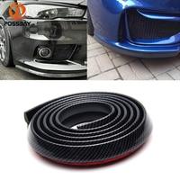 POSSBAY 2.5M Car Rubber Bumper Guard Protector Door Edge Strip Trim Moulding Anti collision Front Bumper Lip Splitter Stickers