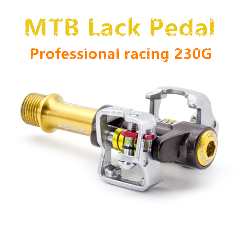 Professional Racing Mountain Bike Lock Pedal Ultralight 230G MTB High end Pedal titanium alloy fully enclosed bearing MTB pedal
