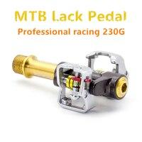 Professional Racing Mountain Bike Lock Pedal Ultralight 230G MTB High end Pedal titanium alloy fully enclosed bearing MTB pedal