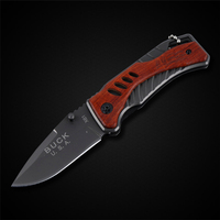 Newest Buck Folding Knife Titanium Stainless Steel Pocket Tactical Outdoor Camping Knife