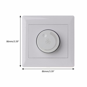 Image 5 - Adjustment Ceiling Fan Speed Control Switch Wall Button Dimmer Switch  220V 10A