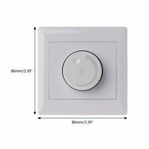 Image 5 - Regulacja przełącznik kontroli prędkości wentylatora sufitowego przycisk ścienny wyłącznik ściemniacza 220V 10A