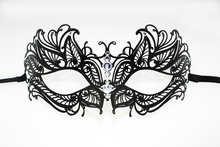 Dance party mask luxury diamond metal beauty iron quality fashion half face
