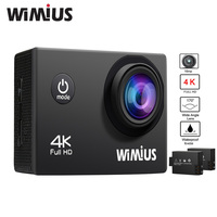 Wimius Action Camera 4K 30FPS Wifi 2 0 Inch Lens 1080P 60fps Full HD Waterproof 40M