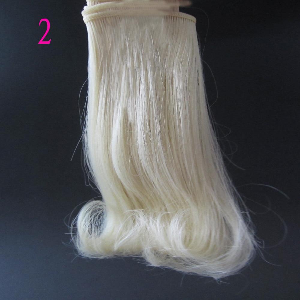 1 pcs 15 cm & 25 cm * 100 cm Boneka Wig untuk 1/3 1/4 1/6 boneka BJD - Boneka dan mainan lunak - Foto 2