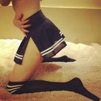 With Stockings Sexy School Cosplay Student Uniform Women Lingerie Underwear Erotic Costume Lenceria Girl Halloween Out Nightwear
