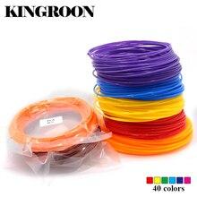 10 Metro Pla 1.75mm filamento materiales de impresión de plástico para 3D impresora extrusora pluma Accesorios negro blanco rojo colores del arco iris