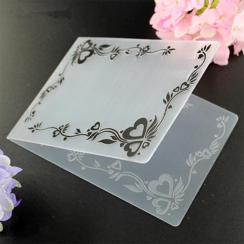 YLEF020 Frame Plastic Craft Embossing Folder For Scrapbook Stencils DIY Album Cards Making Decoration Template Mold 10.5*14.5cm