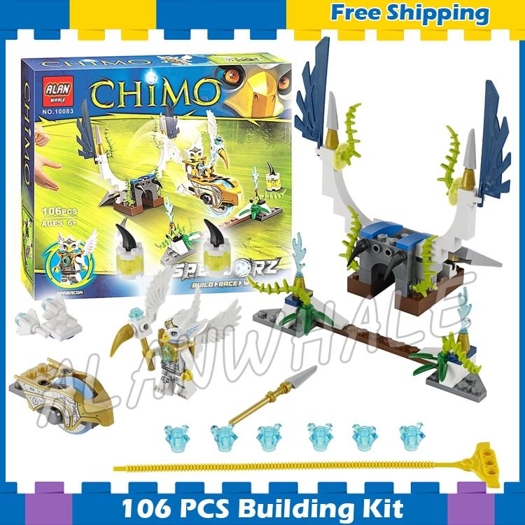 106pcs Speedorz Series Sky Launch Eris Golden Eagle Speedor 10083 Model Building Blocks Children Gifts sets Compatible With Lego