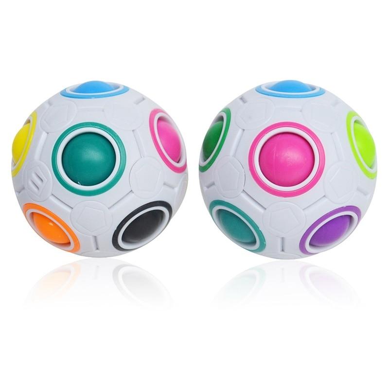 Antistres Creative Spheric Magic Rainbow Ball Plastic Magic Balls Puzzle Children Educational Learning Twist Cube Toys for Kid(China)