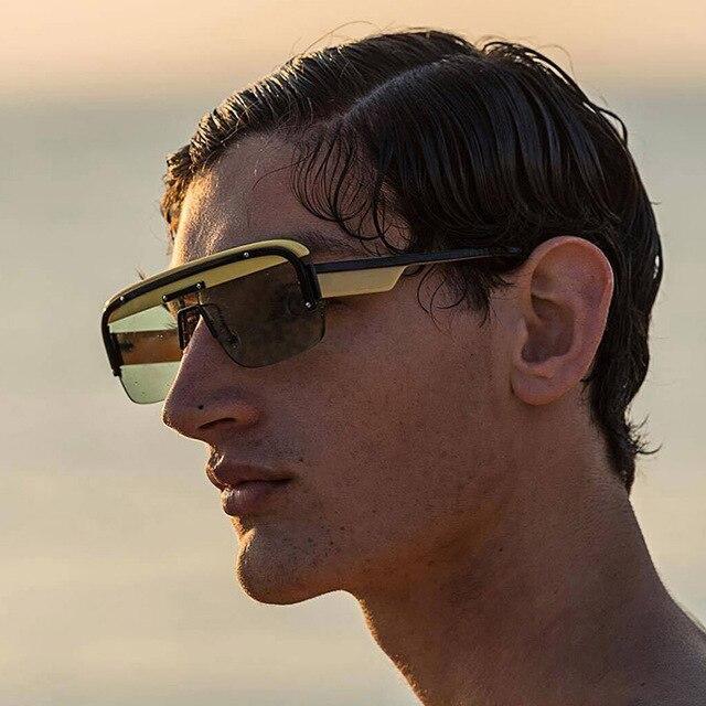 0053755121 Unisex cuadrado Vintage gafas de sol hombres marco medio de diseñador de la  marca de lujo