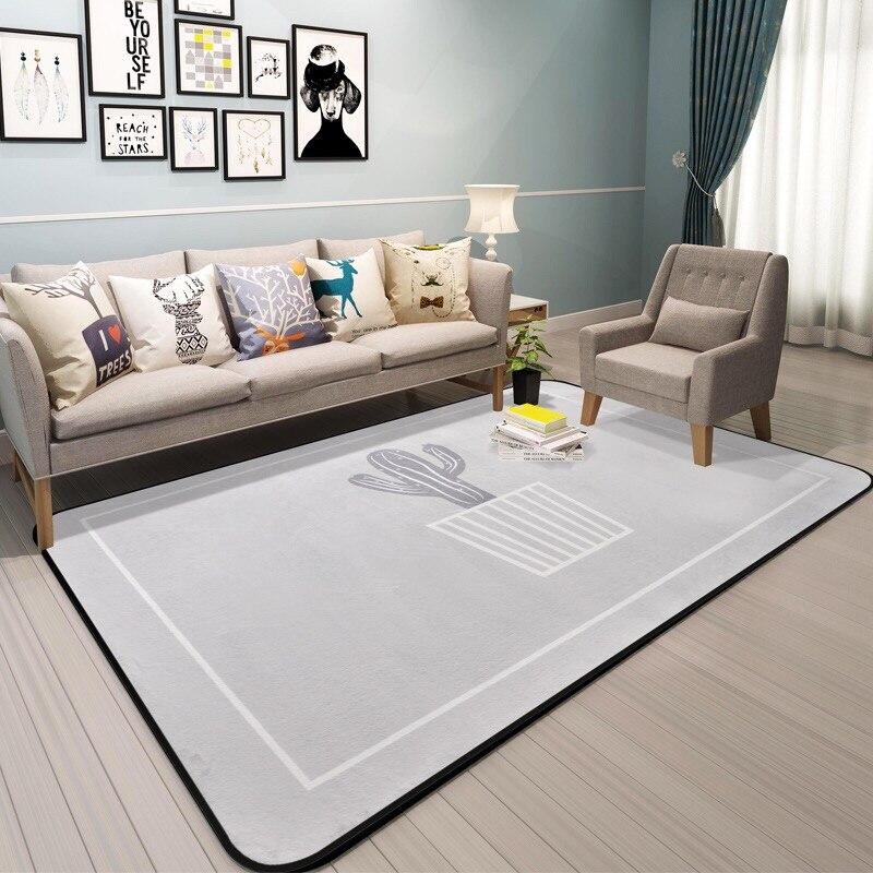 US $7.92 20% OFF|Neue Kaktus Teppich für Bett zimmer Moderne Anlage  Teppiche Wohnzimmer teppiche Bape Matten 100*150 cm Weiche Kinder Teppich  Haus ...