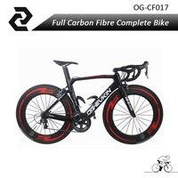22 Speed Carbon Road Bike 2017 New Arrival V Brake UD T800 Full Carbon Complete Road