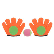 Small/large gloves sticky ball Outdoor Sports Game Throw Catch Balls Toy Gloves Set Sticky Mitts Kids Playing toy(China)