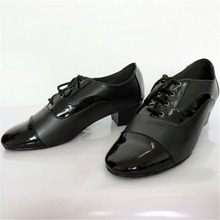 Men Latin Dance Shoes Black Salsa Shoes For Ballroom Dancing
