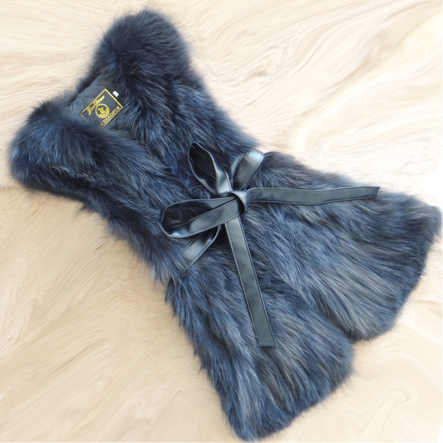 The new 2016 han edition fur vest long fox raccoon fur coat in the tank top vest cultivate one