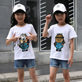 2style Changing color spiderman cat switchable sequins girls boy T-shirts kid fashion t shirt children tops clothes