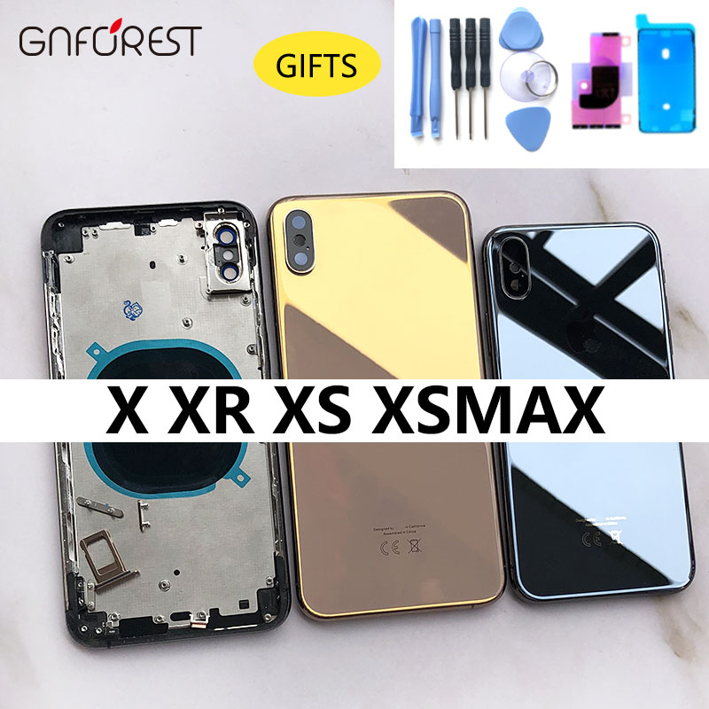 Battery-Cover Housing Metal-Chassis Middle-Frame iPhone X Full-Housing-Case-Assembly