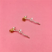 Korean Earrings Barbed Rose Long Personality Contrast Joker Women Fashion Jewelry Gifts