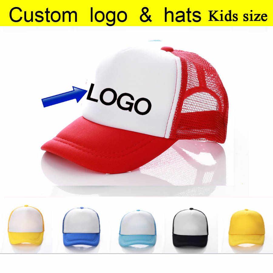 fe07868360e29f Adult/Child/Baby Baseball Cap Custom Trucker Hat Printed Children Son Name  on hats
