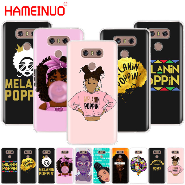 new concept 8b4f6 f185d US $1.64 34% OFF|HAMEINUO Melanin Poppin fashion case phone cover for LG G7  Q6 G6 MINI G5 K10 K4 K8 2017 2016 X POWER 2 V20 V30 2018-in Half-wrapped ...