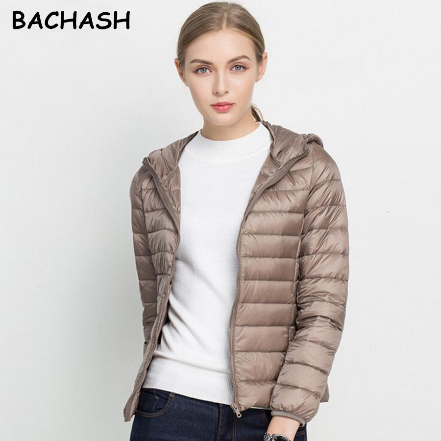 BACHASH 2018 New Brand Autumn Spring Women   Basic     Jacket   Female Slim Zipper Hooded Coats Casual Black   Jackets   Christmas Clothes