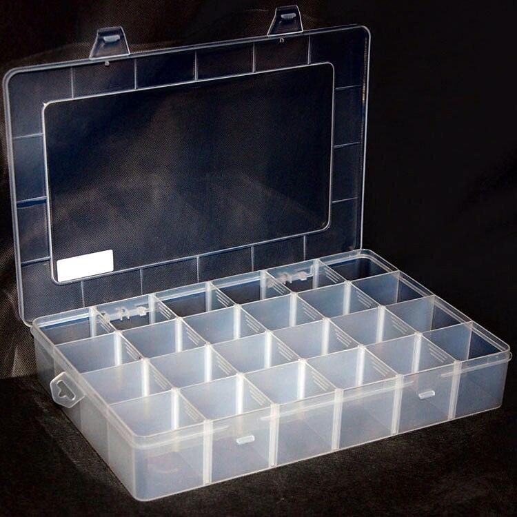 Amable El Engrosamiento De La Caja De Almacenamiento D204 Aumenta Las Piezas Principales De 24 Cajas Es Fácil De Mantener Limpio Y Ordenado, Fácil De Encontrar