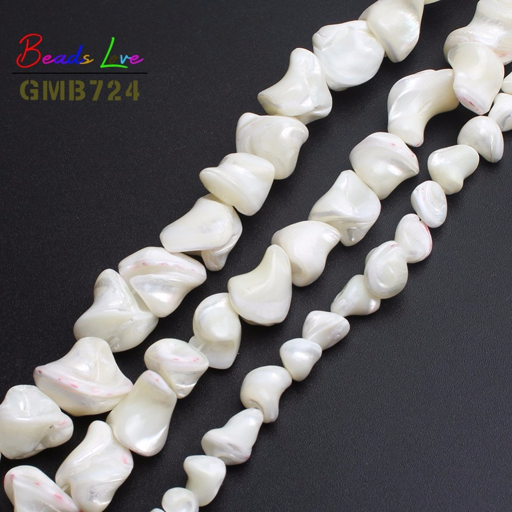"""16mm Heart  Charms Shell Natural White Mother of Pearl Loose Beads 15/"""""""