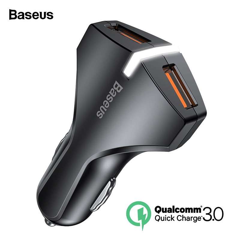 Baseus Quick Charge 3,0 Dual USB Auto Ladegerät 5V3A QC QC3.0 Turbo Schnelle Auto Lade Handy Ladegerät Für iPhone xs Max Xiaomi