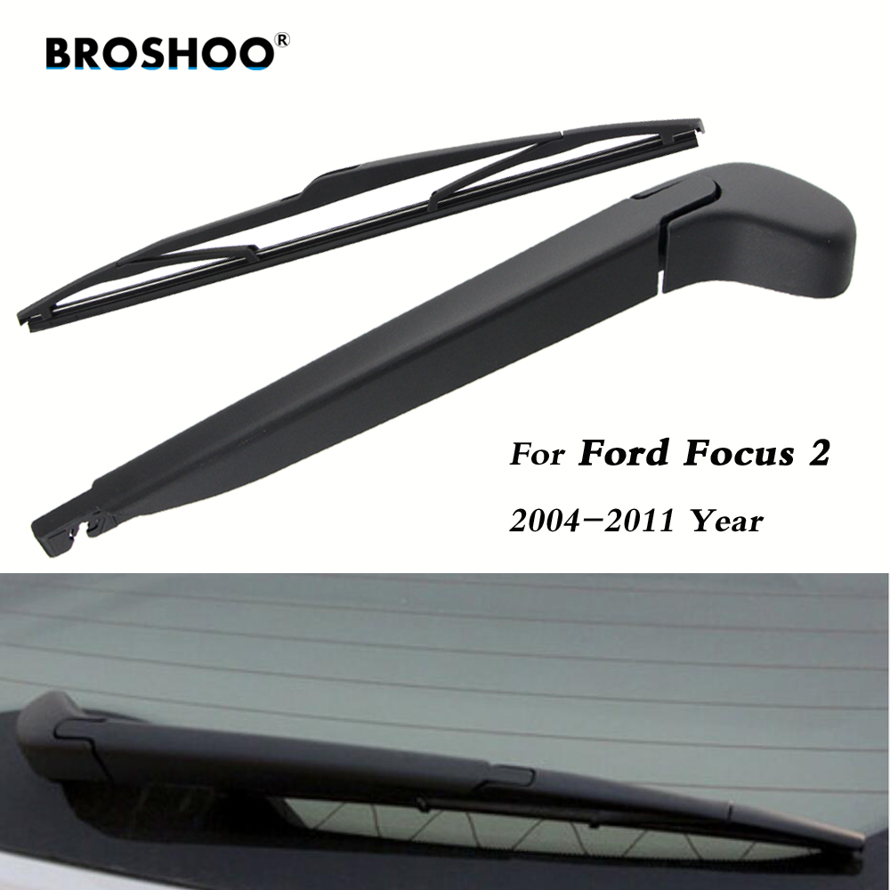 цена на BROSHOO Car Wiper Blades Rubber Windscreen Rear Wipers Blade For Ford Focus 2 Hatchback 14 Inch,2004-2011, Auto Car Accessories