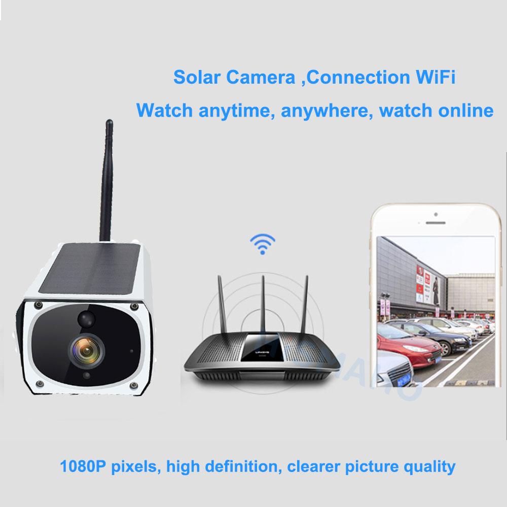 Solar WiFi IP Outdoor Camera 1080P HD Motion Detection 15